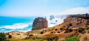 The Twelve Apostles  by the Great Ocean Road in Victoria, Australia Stock Photos