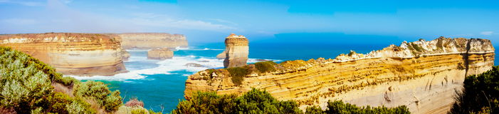 The Twelve Apostles  by the Great Ocean Road in Victoria, Australia Stock Images