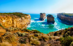The Twelve Apostles  by the Great Ocean Road in Victoria, Australia Royalty Free Stock Images