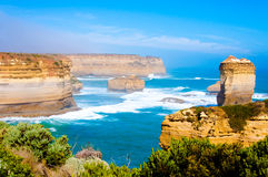 The Twelve Apostles  by the Great Ocean Road in Victoria, Australia Stock Photography