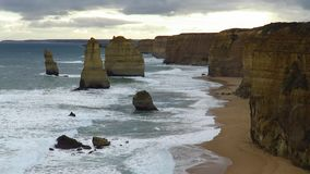 The twelve apostles on the great ocean road stock video footage