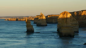 Twelve Apostles monuments. Port Campbell national park, Australia stock footage