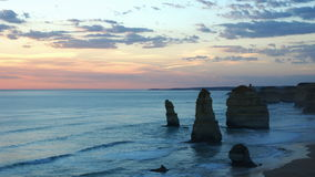 Twelve Apostles monuments stock footage