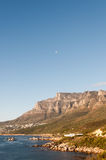 Twelve Apostles and Moon Stock Photography