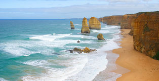 The Twelve Apostles Panorama Royalty Free Stock Image