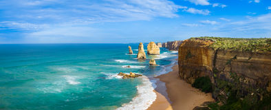The Twelve Apostles panorama Stock Images