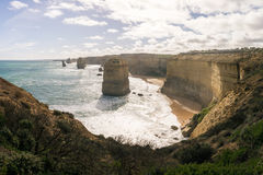 Twelve Apostles rock formation in the ocean along the Great Ocean Road, Victoria, Australia Royalty Free Stock Image