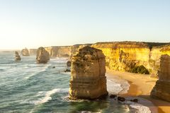 Twelve Apostles Sea Rocks near Great Ocean Road , Port Campbell National Park, Australia stock images
