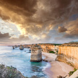 Twelve Apostles at sunrise, amazing natural landscape of Great O Royalty Free Stock Photos