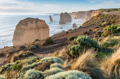 Twelve Apostles at sunrise, amazing natural landscape of Great O Stock Photography