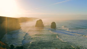 Twelve Apostles sunrise stock video