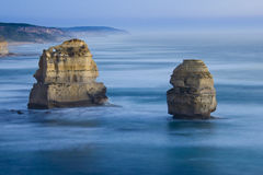 Twelve Apostles after sunset Stock Images