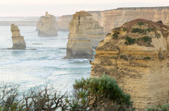 The Twelve Apostles at sunset along Great Ocean Road, Victoria - Stock Image