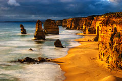 Twelve apostles sunset Royalty Free Stock Photography