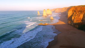 Twelve Apostles sunset stock video footage