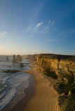 Twelve apostles at sunset (portrait) Stock Photography