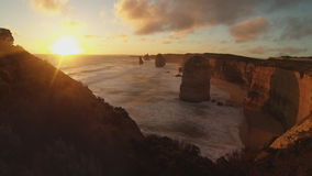 Twelve apostles time lapse stock footage