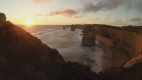 Twelve apostles time lapse Royalty Free Stock Photo