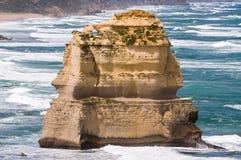 Twelve Apostles in Victoria, Australia. Twelve Apostles rock stack in Victoria, Australia on a clear blue sky day stock photography