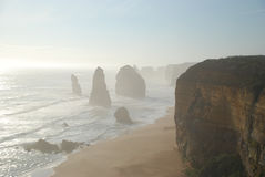 Twelve Apostles in Victoria, Australia. Twelve Apostles along the Great Ocean Road in Victoria, Australia Stock Photos