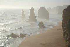 Twelve Apostles in Victoria, Australia. Twelve Apostles along the Great Ocean Road in Victoria, Australia Royalty Free Stock Image
