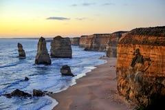 Twelve Apostles, Victoria, Australia. Beautiful sunset on Twelve Apostles, Australia Royalty Free Stock Photo