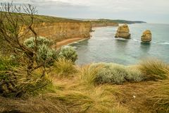 The twelve apostles view from Castle rock on the GOR stock photo