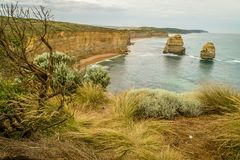 The twelve apostles view from Castle rock on the GOR royalty free stock photos