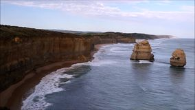 Twelve Apostles. View from the Twelve Apostles lookout facing east in Victoria, Australia stock video
