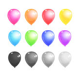 Twelve balloons set Stock Image