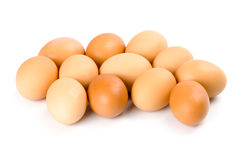 Twelve brown eggs Royalty Free Stock Photos