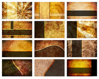 Twelve Business Card Backgrounds set Royalty Free Stock Photo