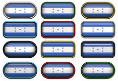 Twelve buttons of the Flag of Honduras Stock Image