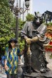 Twelve chinese zodiac angel statue at Wong Tai Sin Temple at Kowloon in Hong Kong, China stock photo