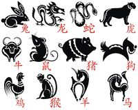 The Twelve Chinese Zodiac Royalty Free Stock Image