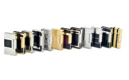 Twelve Cigarette lighters Stock Photos