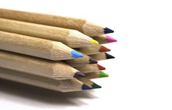 Twelve Colored pencil Stock Photos