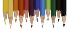 Twelve Colored Pencils Stock Image