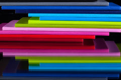 Twelve different colors diaries Royalty Free Stock Photo