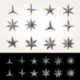 Twelve dot stars Stock Image