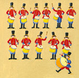 Twelve drummers drumming Royalty Free Stock Images