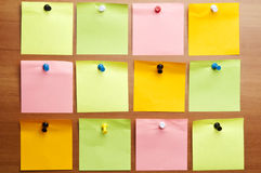 Twelve empty  post it Stock Photos
