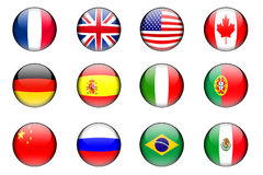 Twelve flags Royalty Free Stock Images