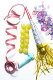 Twelve grapes and utensils for New Years Royalty Free Stock Image