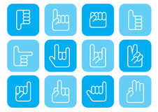 Twelve Hand Signs Royalty Free Stock Photography