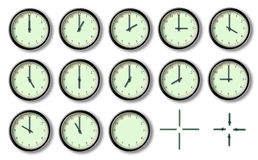 The twelve hour of the clock Royalty Free Stock Photography