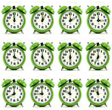 Twelve hours alarm clock Stock Photo