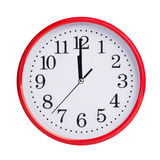 Twelve hours on a round dial. Twelve hours on a round red dial Royalty Free Stock Photography