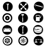 Twelve icons Stock Photo