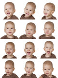 Twelve images of child Royalty Free Stock Images